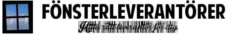 Fönsterleverantörer Logo